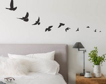 popular items for family wall decor on etsy flying birds wall decal birds wall sticker flying by
