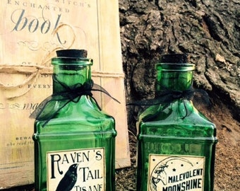 Set of Glass Apothecary Bottles