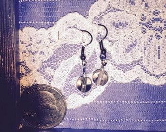 Smoky Gray Bead earrings