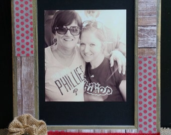 Capture Life's Moments Picture Frame, Burlap Flower, Bronze Charm, Rustic