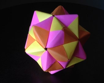 30-Piece Modular Origami Sonobe Ball (Solid Colors)