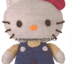 Hello Kitty Toy Knitting Pattern PDF Download