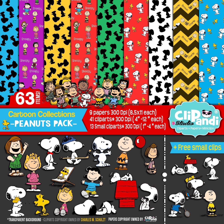 Peanuts Characters Clipart Il Fullxfull Ub