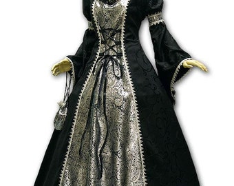 Gown for Baroque steampunk Gothic Carnival Venice