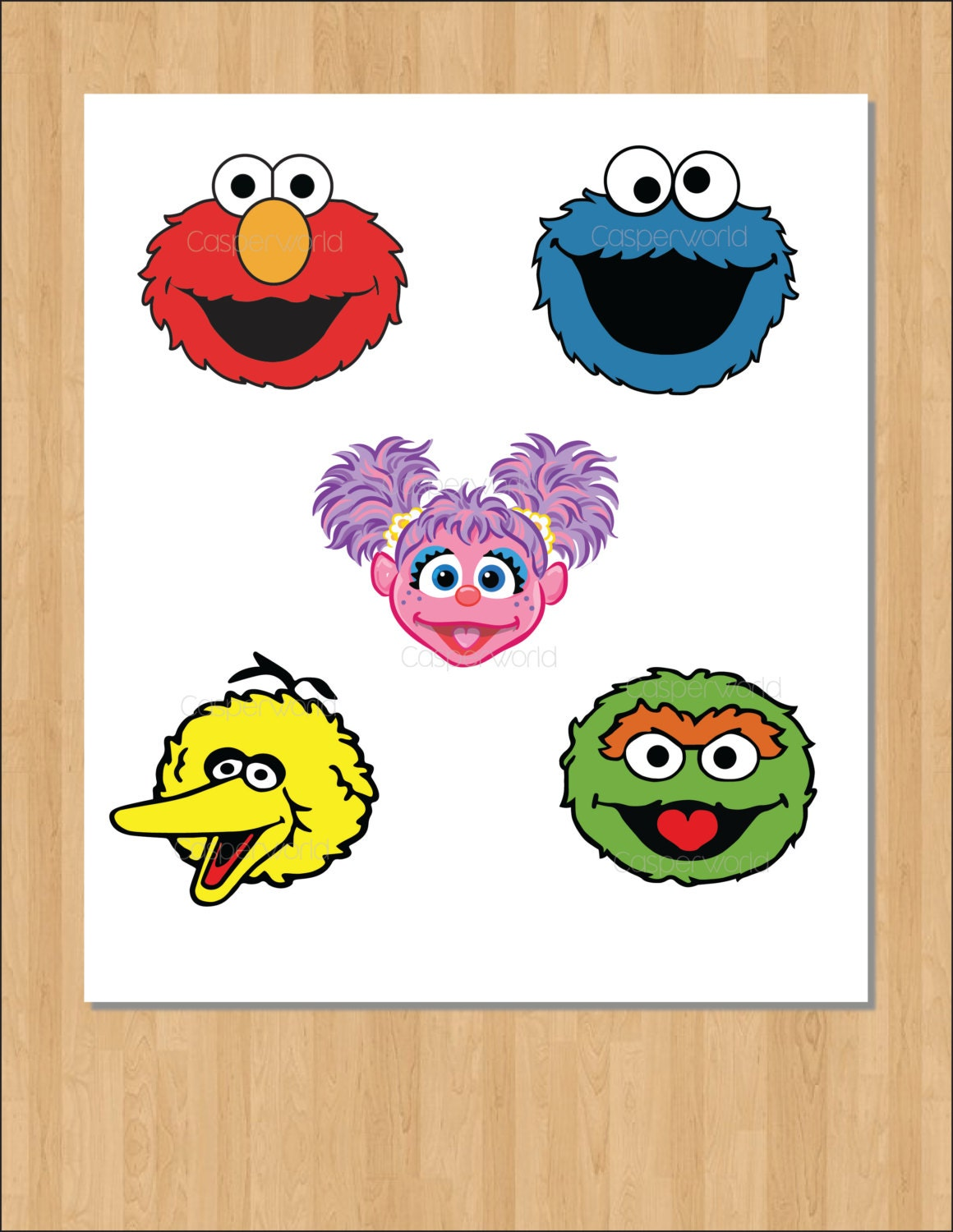 Sesame street birthday party characters elmo cookie monster
