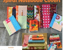 Spiral Notebook Covers PDF Sewing Pattern 3 Sizes book covers, journal covers