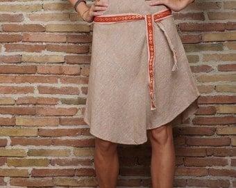 Khadi Dress with tribal belts, summer cotton dress, ethnic dress, tribal dress, primitive dress, hippie dress, small dress