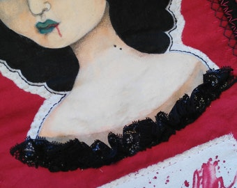 Carmilla-Tapestry-Textil art-Hand embrodery- wall hanging