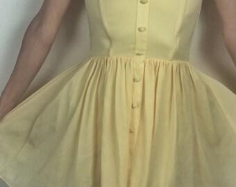 Poppy Yellow Dress XS