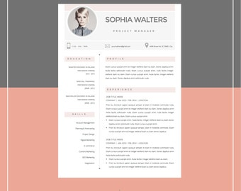 resume template and cover letter template for word diy printable super pack mac or