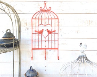 Iron Bird Cage Key Holder, Leash Holder, Coat Hanger, Home Decor, For The Home, Customize