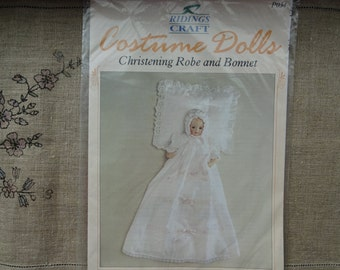 Dolls christening robe pattern