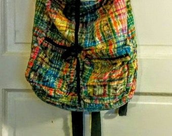 Rainbow backpack from Guatemala