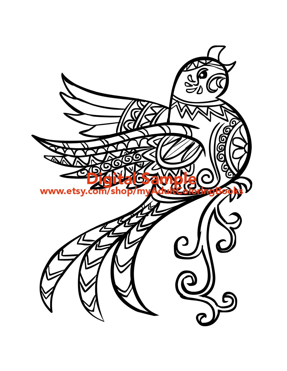 bird coloring page for adults birds coloring pages