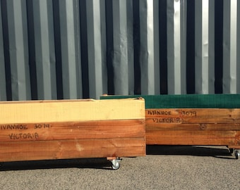 "Timber planter boxes  ""original"" Re CReATED"