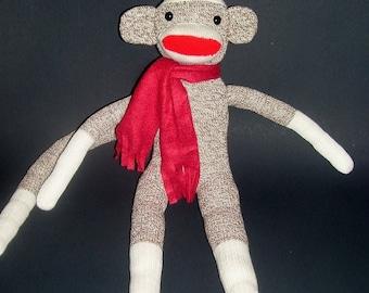 Original Red Heel Sock Monkey - Brown