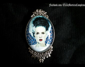 "Elsa Frankenstein cameo brooch. ""Bride of Frankenstein"" Cameo Brooch"