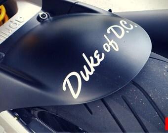 Duke of D.C. Sticker