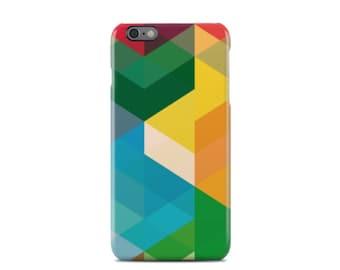 Colorful Geometric Block iPhone 6 Case - iPhone 6 Plus Case - iPhone 5 Case - iPhone 5S Case - iPhone 5C Case