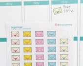 30 mini envelope planner stickers 0.5 inch (12 mm) wide, calendar or diary, snailmail, happy mail, shipping, task, to do sticker, ENV1