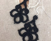 Tatted Lace Earrings - Firefly