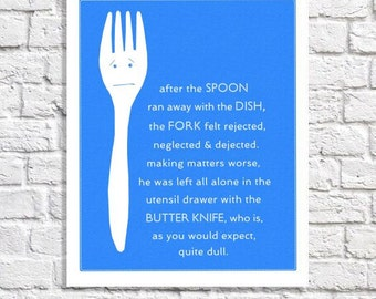 Funny Kitchen Art Print Kitchen Wall Decor Kitchen Sign Funny Kitchen Print Blue Kitchen Decor Kitchen Gift Kitchen Picture Kitchen Quote