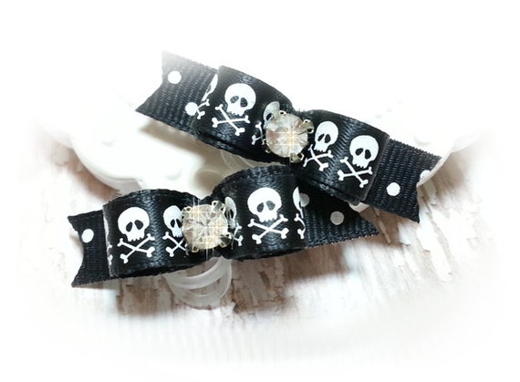 Boy Dog Bows, Pirate Skull Pet Bows