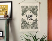 Love You- Wall Banner