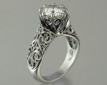The ENCHANTED PRINCESS Forever Brilliant Moissanite 14K gold engagement ring