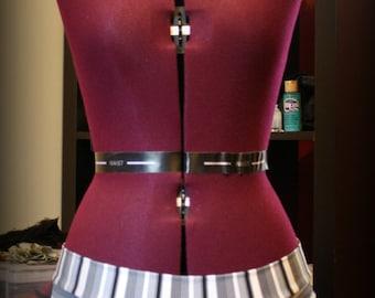 Grey/White/Black Pinstripe Flirt Skirt