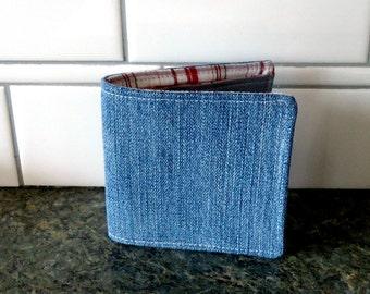 Denim Wallet, Slim Cotton Wallet for Men, Women, Guys or Girls, Vegan, Boyfriend gift