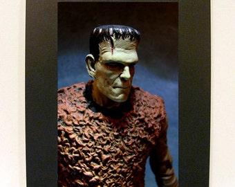 "Framed Frankenstein Toy Photograph 4x6"" Boris Karloff Monster"