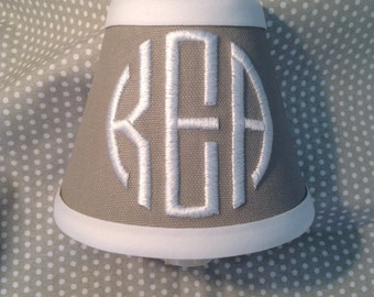 Walker Monogrammed Night Light Gray with choice of Accent Color