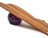 Cat Weaving Shuttle For Weaving Loom Inkle Loom Tablet Weaving Card Weaving Detail Work - Handcrafted Weaving Tool - Oak
