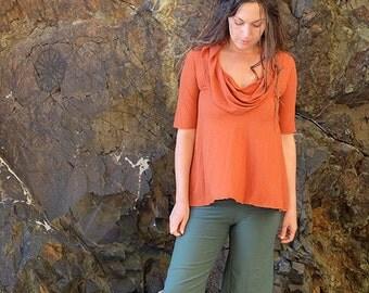 ORGANIC Gypsy Wanderer Shirt ( light hemp and organic cotton knit ) - organic shirt