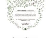 Woodland Wedding Ketubah Marriage Certificate