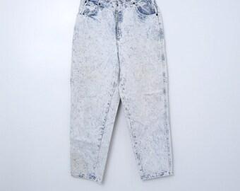 Vtg 80s Acid Washed Jeans Congo Trader High Waist: 30 x 29