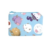 League of Legends Poro Bag / Video Game Zipper Pouch / Geeky Gift