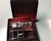 Sterling and 14KT Gold Buckle, Cufflinks, and Studs James Reid Ltd. - Husband Gift