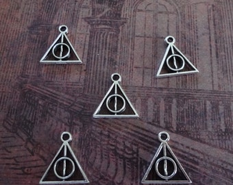 5 - Harry Potter Deathly Hallows Charms - 12mm x 13mm