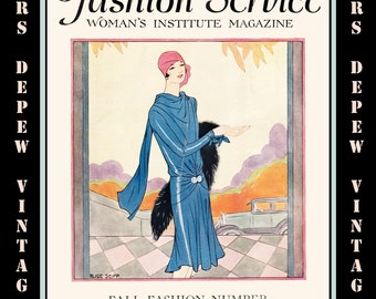 Vintage Sewing Magazine September, 1928 Fashion Service Dressmaking Sewing and Fashion Ebook -INSTANT DOWNLOAD-