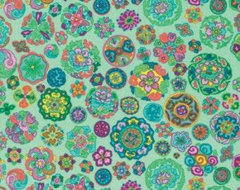 Circles Himalaya Patina Snow Leopard Designs Freespirit fabric 1 yard