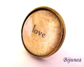Love ring - Love quote ring - Valentine love ring - Love ring - Love jewelry - Love ring r835