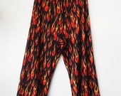 DEVIL COSTUME // Vintage 90s See Through Flame Pants Sheer Micro Mesh Bottoms Halloween Club Kid 1990s Cyber Sexy Womens Small