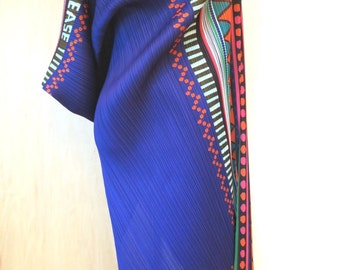 ON HOLD- Pleats Please Issey Miyake vintag -Festival series in the world -Purple Long dress size 5 1990s large