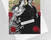 Christmas Card for Your Best Friend - Victorian Vintage Style Collage Art - Best Friends Forever
