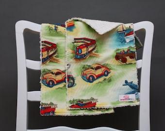 Burp Cloths (Set of 2) - Michael Miller Transportation Fabric