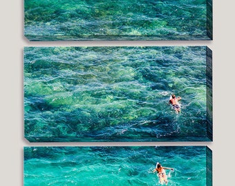 Surfers Large Canvas Art, Photography, Uluwatu, Bali, Indonesia, Surfboards, Reef, Waves, Indian Ocean, Paddle Out, Surfer Girl Decor