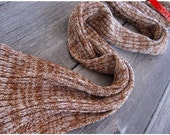 ON SALE Beige and Natural Desert shades bamboo scarf - skinny scarf for men or women