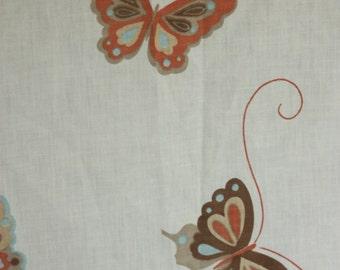 Vintage Twin Fitted Sheet, Butterfly Sheet, Retro Bed Sheet, Bedding, Single Sheet,